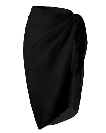 bf56f0c7bd2f1 Huiyuzhi Womens Beach Sarong Swimsuit Wrap Chiffon Swimwear Cover Up (One  Size