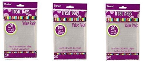 Darice 28-002V 3-3/4-Inch-by- 6-Inch Clear Treat Bag 3