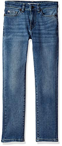 Amazon Essentials Big Boys' Slim-Fit Jeans, Doppler/Light Wash,10