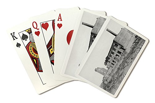 Astoria  Oregon Fire View Of Astoria Natl  Bank Photograph  Playing Card Deck   52 Card Poker Size With Jokers
