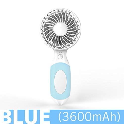 DeemoShop Summer Mini Portable Rechargeable Fan Air Cooler Operated Hand Held USB Battery Cute Fan Air Conditioner Cute Cartoon Fan