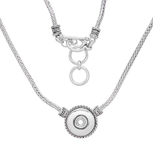 Antique Button Necklace - 4