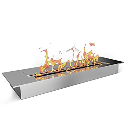 "Elite Flame 18"" Ethanol Fireplace Burner Insert"