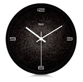 Spider Web Clock (JustNile Modern Creative Round 12-inch Non Ticking Silent Wall Clock -)