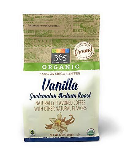 365 by Whole Foods Market, Organic 100% Arabica Coffee, Ground – Medium Roast (Guatemalan), Vanilla, 12 Ounce