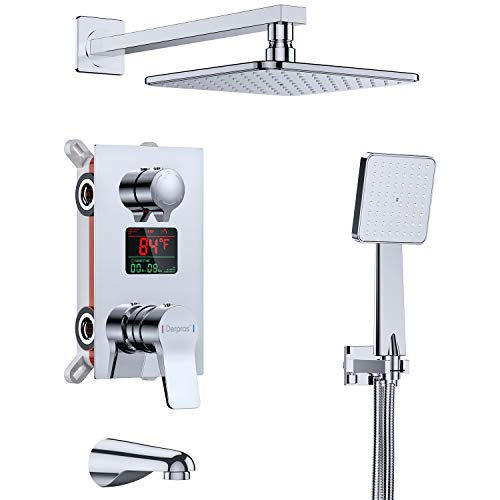 Derpras Luxury Shower System with Temperature Display,...