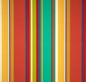 Outdoor Tufted Adirondack Chair Cushion – Red, Orange, Blue, Yellow, White Bright Colorful Stripe