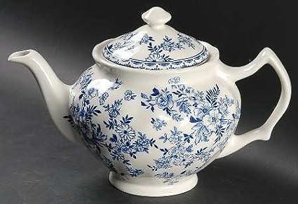 Amazon.com: Johnson Brothers Devon Cottage Teapot & Lid, Fine China ...