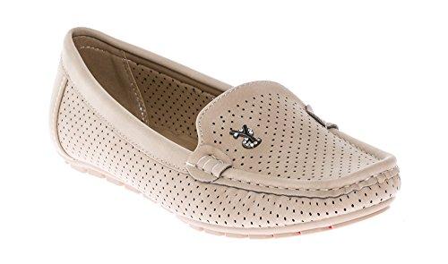 Flats CALICO KIKI Women's Taupe Shoes Slip Mocassins Comfort Loafers On q0UqR