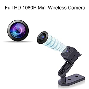 Mini Spy Camera, ZZCP 1080P Portable Small HD Covert Nanny Cam with Night Vision and Motion Detection,Indoor/Outdoor Wireless Security Camera,Perfect Hidden Camera for Home and Offic …