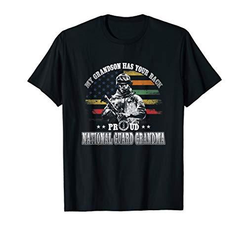 - Proud National Guard Grandma Shirt My Grandson Has Your Back