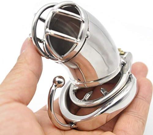 Pllxq フックとリングクラスプ付きロングステンレス鋼アンチ落ちるバージョン貞操ロックCb6000円弧形の貞操デバイス (Size : 45mm)