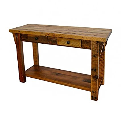 Amazon.com: Rustic Barn Wood Furniture - Sofa Table/Entry Table with ...