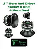 (4) Timpano TPT-DH2000 2'' Compression Horn Driver 8 Ohm Slim 1200 Watts 2 Pair