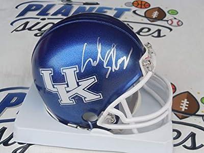 Mark Stoops signed Kentucky UK Wildcats mini helmet COA