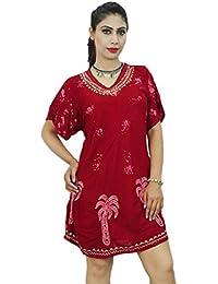 Gift For Women Beach Indian Dress Rayon New Casual Summer Sundress