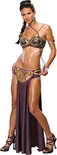 Cheap Princess Costumes For Adults (Princess Leia Slave Adult Costume - Small)