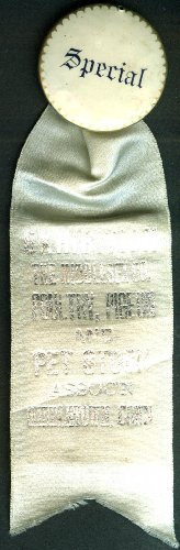 Middlesex Cty Poultry Pigeon & Pet Stock pinback ribbon Special Award 1930s from The Jumping Frog