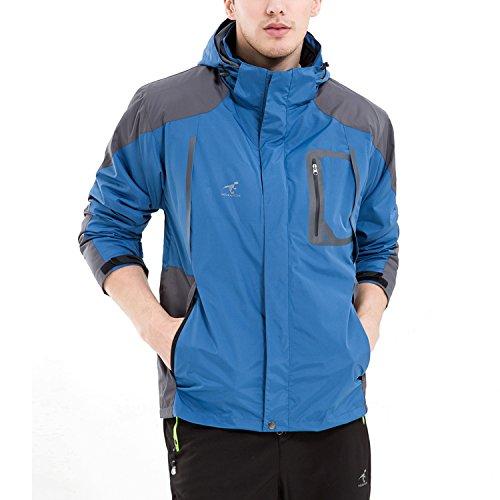 Rain Jacket Sizes 6 Jacket 3 Removable Mens Waterproof Outdoor Royal Jackets 5 Waterproof SEEU Fleece with 1 Proof in Colours Blue Hood wnHq8a86x