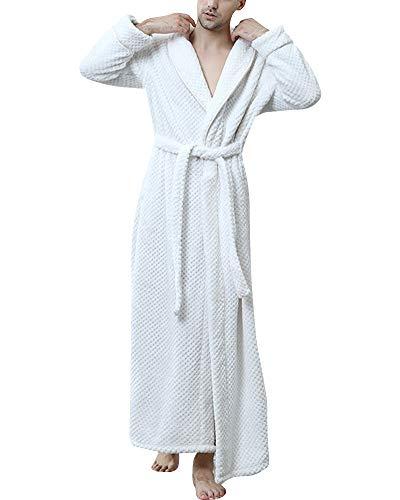 A Spa Casa Morbida Da Con Bianco V Per Bagno Hotel Scollo Vestaglie Elegante Caldo Uomo Cintura PXFOw