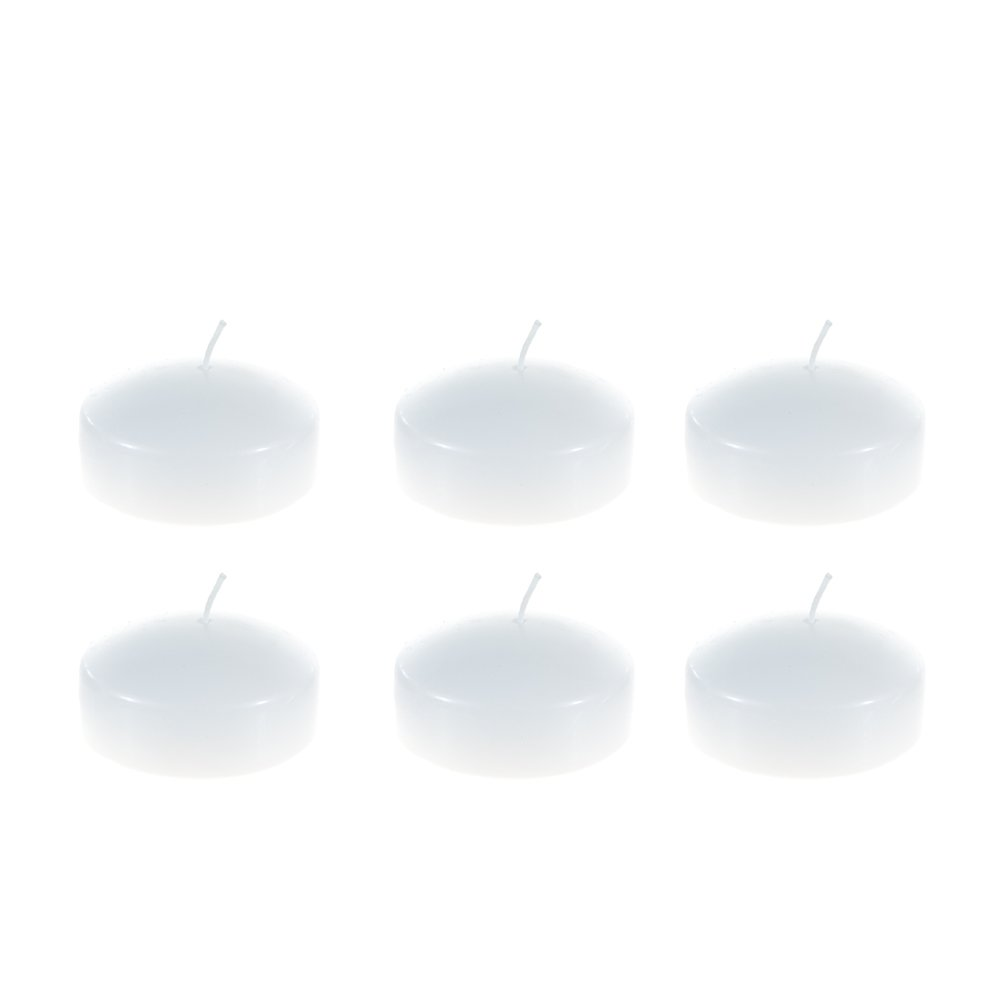 Mega Candles - Unscented 2'' Floating Disc Candles - White, Set of 144