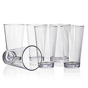 Bistro 20-ounce Premium Quality Plastic Tumblers   set of 6 Clear