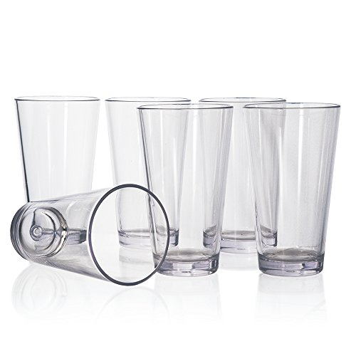 Bistro 20-ounce Premium Quality Clear Plastic Tumblers | set of ()