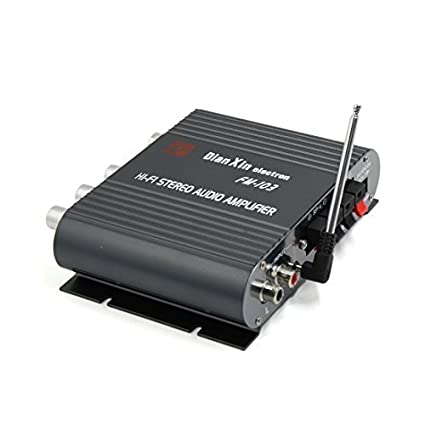 eDealMax Universal Negro coche de la motocicleta Mini Hi-Fi amplificador Audio estéreo de 200W