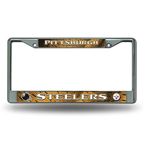 Rico Pittsburgh Steelers NFL Chrome Metal License Plate Frame