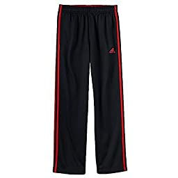 Adidas Boys Athletic Pants (small 8, Black & Scarlet)
