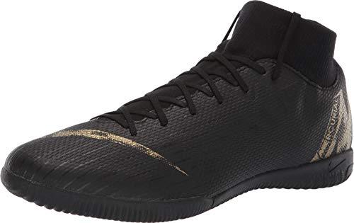Nike Superfly 6 Academy IC Mens Soccer-Shoes AH7369-077_10.5 - Black/MTLC Vivid Gold