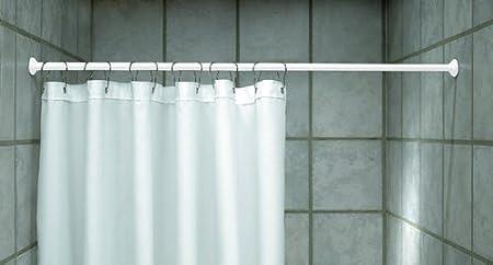 Qualitative duschvorhang stange cm weiss teleskopstange