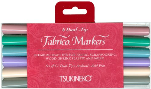 al-Tip Markers, Pastel, 6-Pack (Fabrico Fabric Marker)