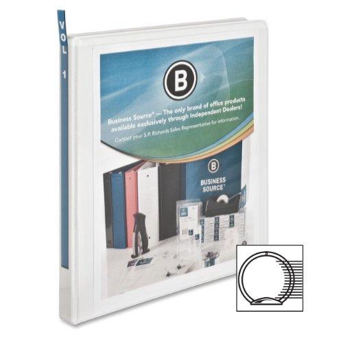 Business Source .5-Inch Standard Presentation Binder - White (09980) ()