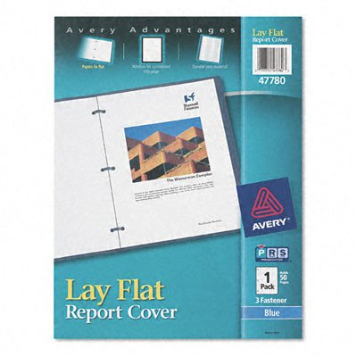 - Lay Flat Report Cover [Set of 2] Color: Clear / Blue