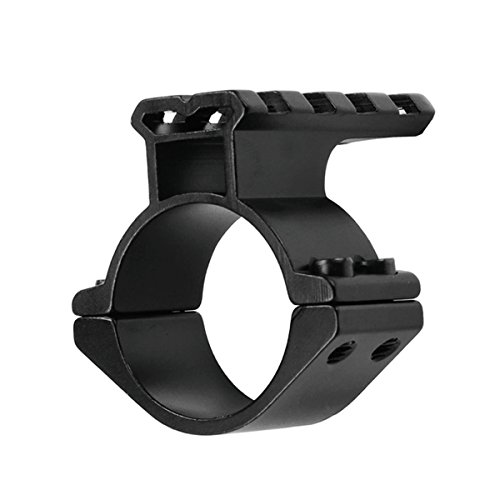 Mizugiwa 1inch /30mm Scope Adapter Ring/Mount with Picatinny/Weaver Top Rail for Backup/Second Laser