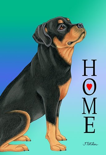Rottweiler - Best of Breed Home Design House Flag
