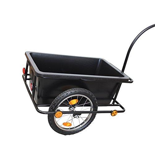 Grafner® XXL Fahrradanhänger Fahrradlastenanhänger Handwagen 150 kg Zuladung