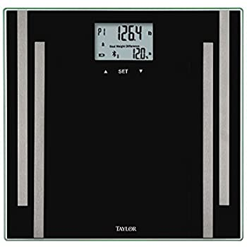 Taylor Bluetooth Body Fat Smart Scale w/ 400 lb Capacity and SmarTrack App