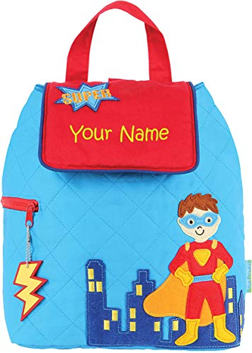Personalized Stephen Joseph Super Hero Quilted Backpack with Embroidered Name