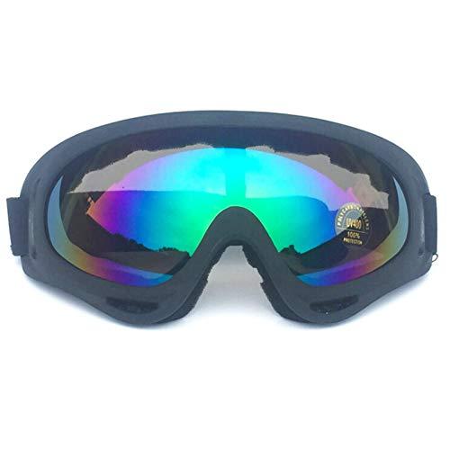 Adisaer Sport Brille Herren X400 Goggles Off-Road Goggles Black Multicolor for Mens (Ray Brille)