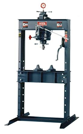 "Dake 25H Model Hand Operated H-Frames Hydraulic Press, 25 Ton Capacity, 42.5"" Length x 30"" Width x 76"" Height"