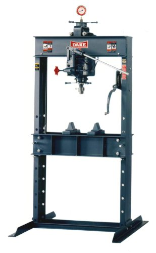Dake 25H Model Hand Operated H-Frames Hydraulic Press, 25 Ton Capacity, 42.5'' Length x 30'' Width x 76'' Height by Dake