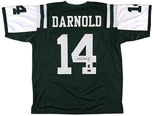 Signed Sam Darnold Jersey Custom Green Autographed NFL Jerseys