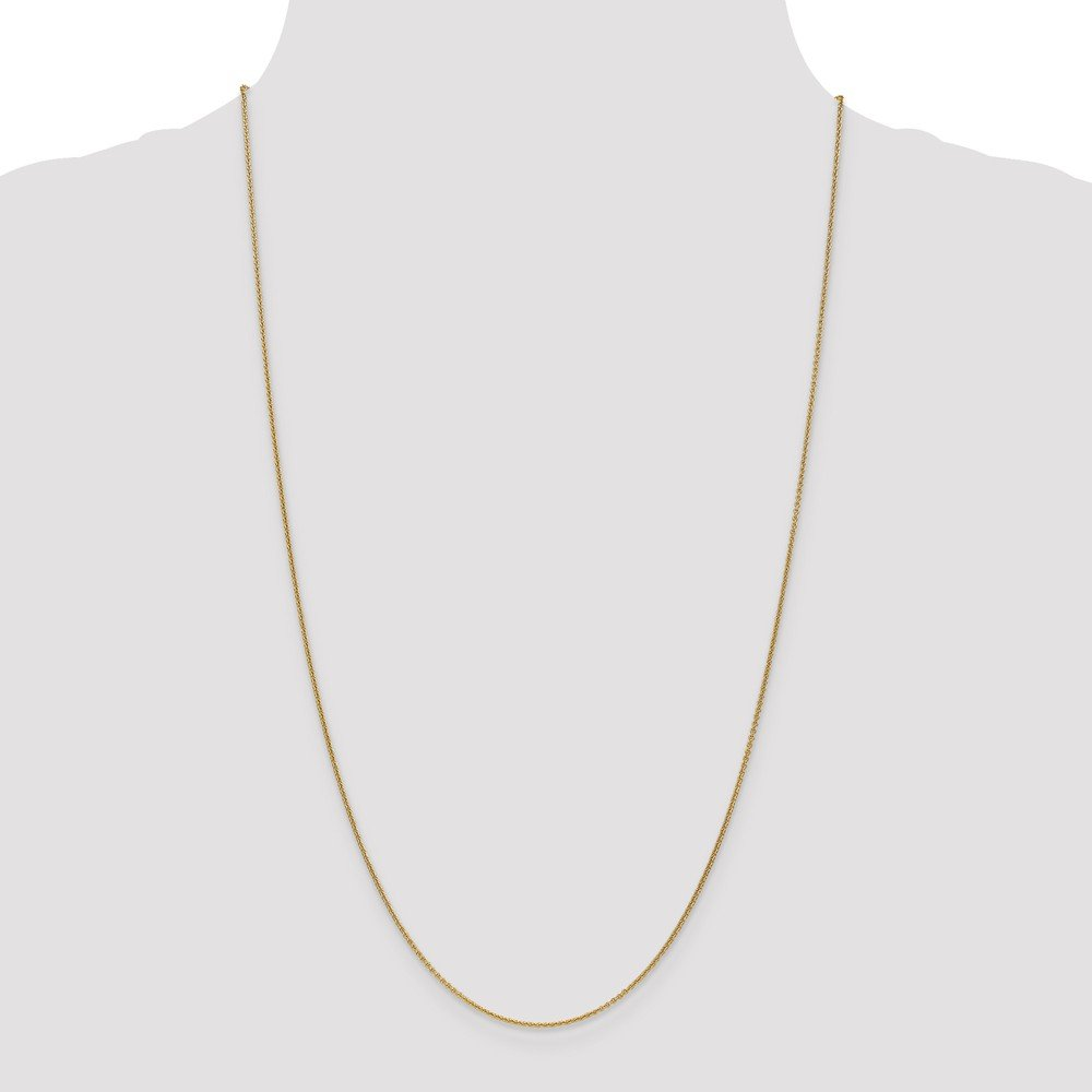 Beautiful Yellow gold 18K 18K Leslies 1.15mm D//C Cable Chain