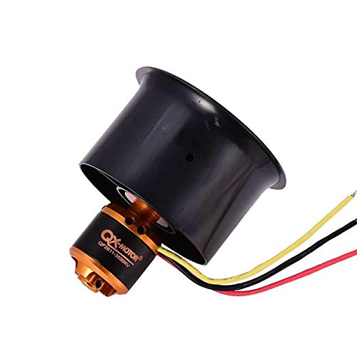 9imod QX-MOTOR QF2611 3500KV Brushless Motor with 55mm 6 Paddle EDF Ducted Fan Culvert Motor Suit for RC Fixed Wing Drone Ducted