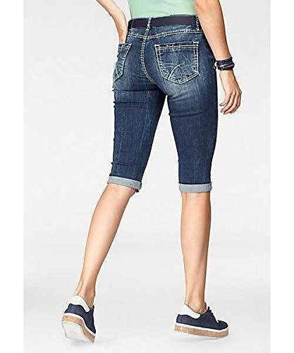 Soccx Damen Jeans Bermuda Frauen Kurze Hosen mit dicken N/ähten Modisch und Perfekt f/ür den Sommer