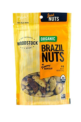 - Woodstock Farms Organic Brazil Nuts, 8.5 Ounce Bags (Pack of 2)