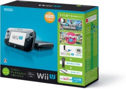 Wii U すぐに遊べるファミリープレミアムセット+Wii Fit U(クロ)
