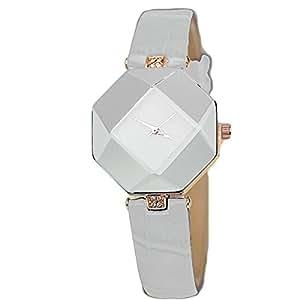 Nueva llegada ❧ layhome reloj, las mujeres de diamantes Prism reloj de pulsera Blanco